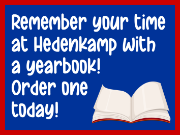 Yearbook Sale web graphic remember hedenkamp