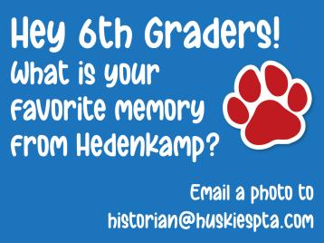 6th Grade Favorite Memory web graphic