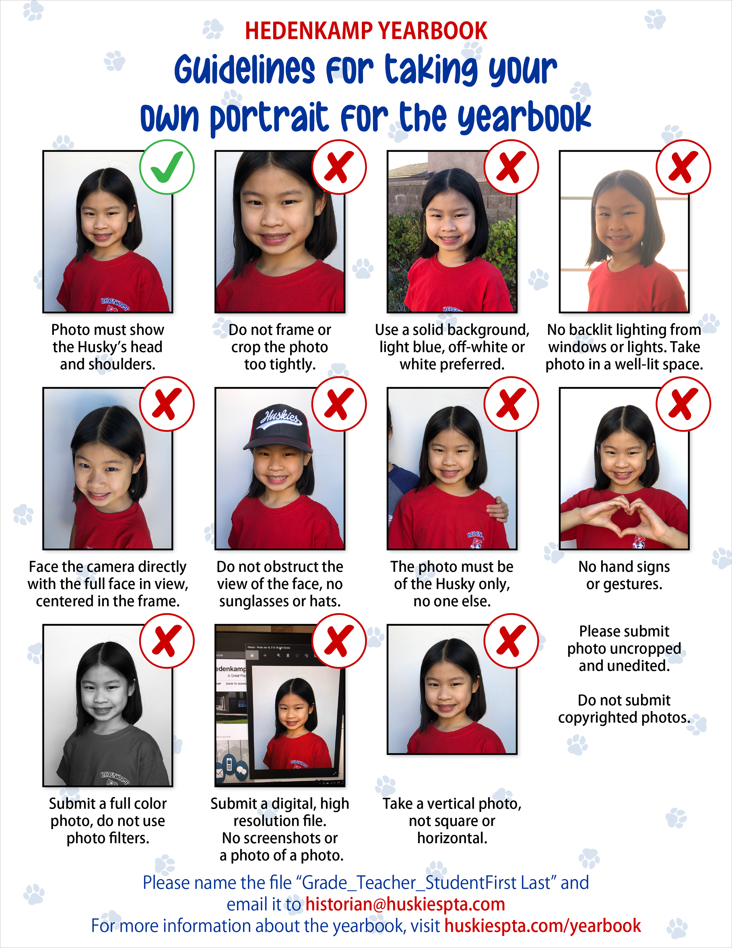 Yearbook Portrait Tips flyer online
