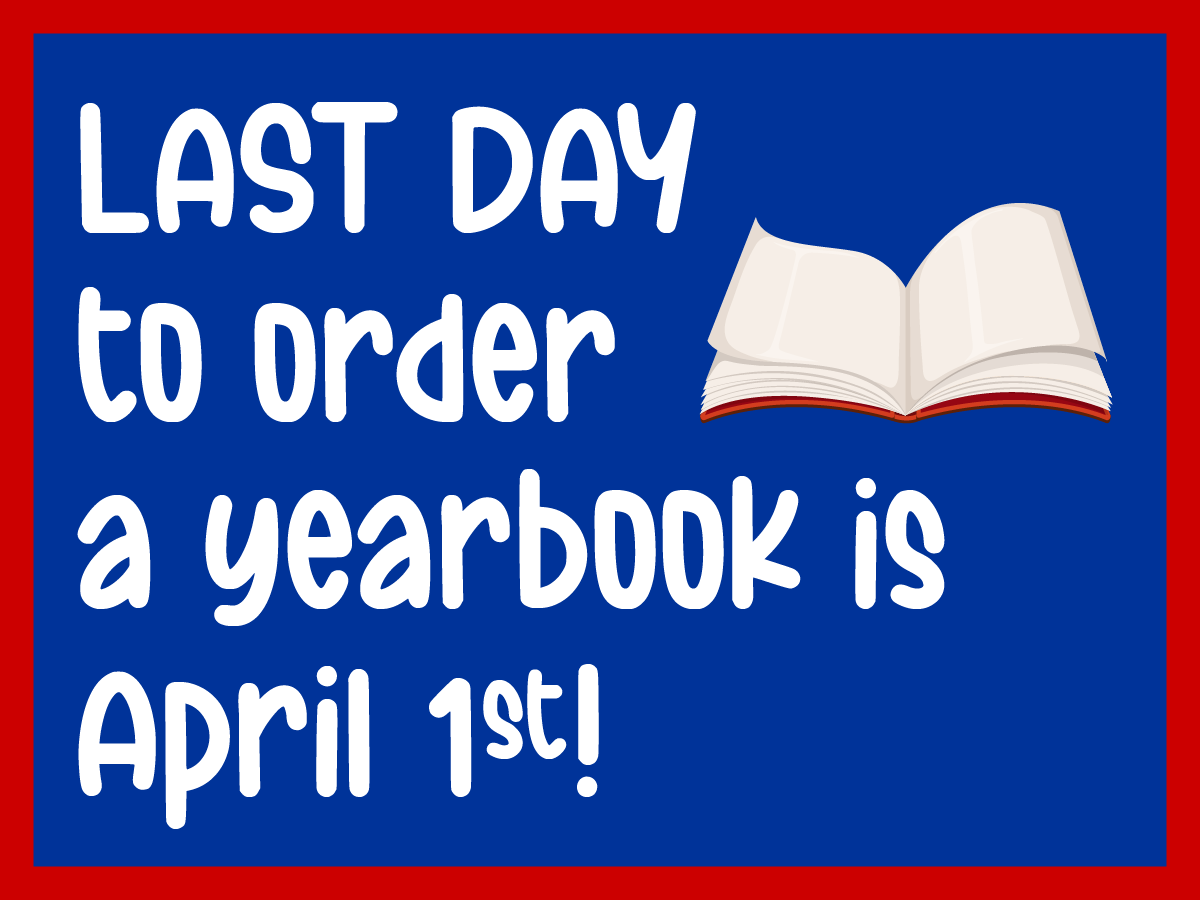 Yearbook Sale web graphic last day