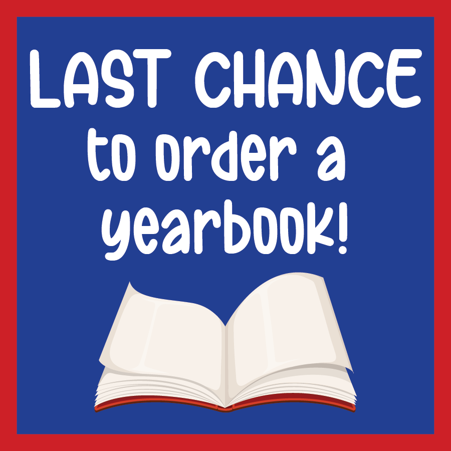 Yearbook Sale web graphic last chance