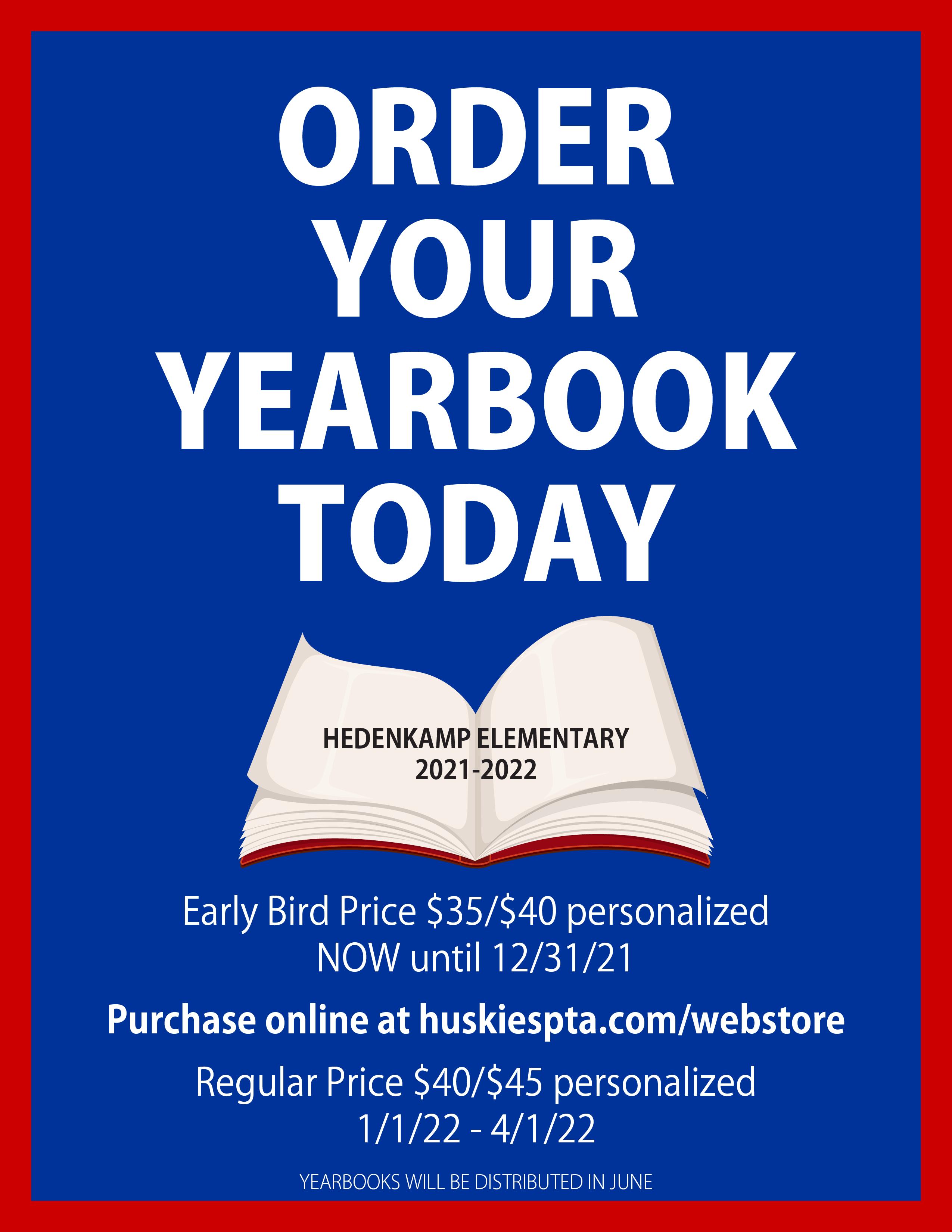 Yearbook Sale flyer online 21-22